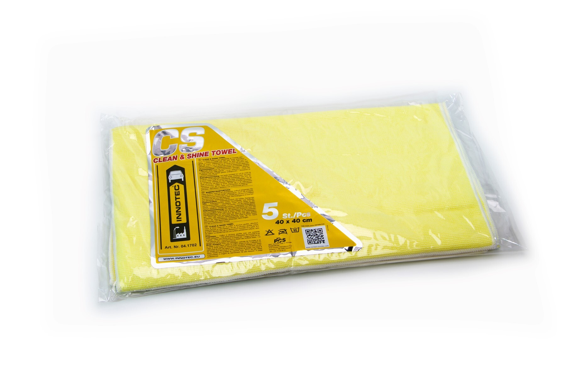 1257 Clean Shine Towel Tellow